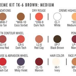 TK6 BROWN/LT-MED THEATRICAL MAKEUP KIT