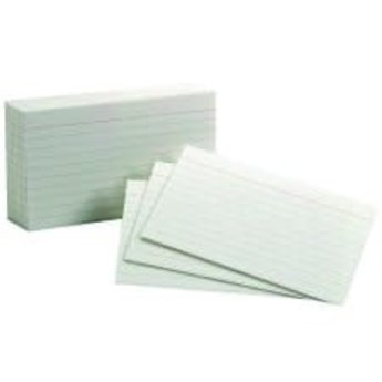 Oxford Index Cards, 3x5, Ruled, 100ct