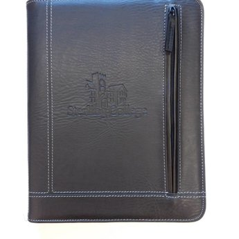 Norwood Pennsylvania Zippered Padfolio, Black