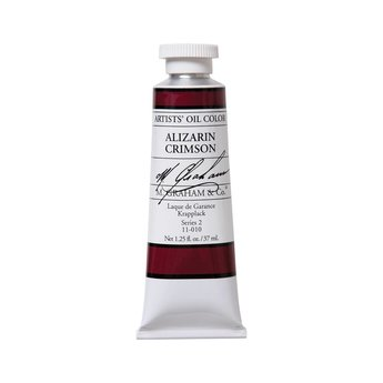 ARTISTS' OIL COLOR, ALIZARIN CRIMSON, 1.25 OZ.