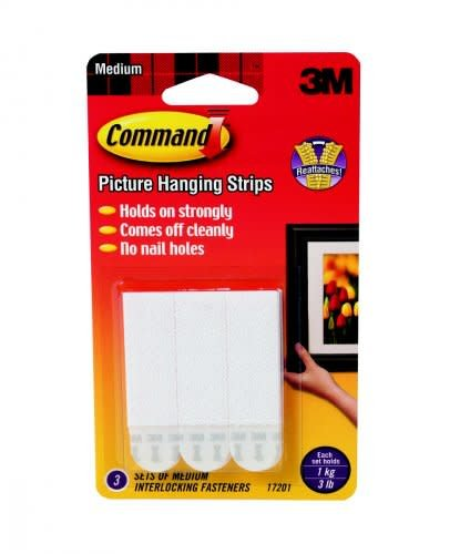 Command Picture Hanging Strips, White, 3ct