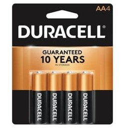 Duracell AA Batteries, 4ct