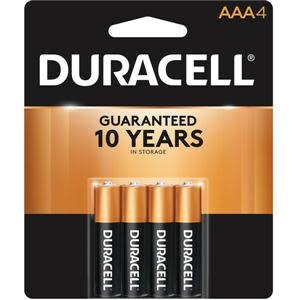 Duracell AAA Batteries, 4ct