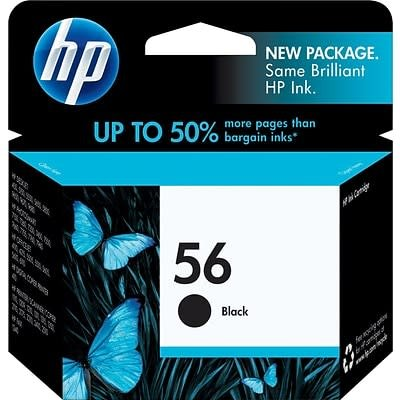 HP 56 Ink Cartridge, Black