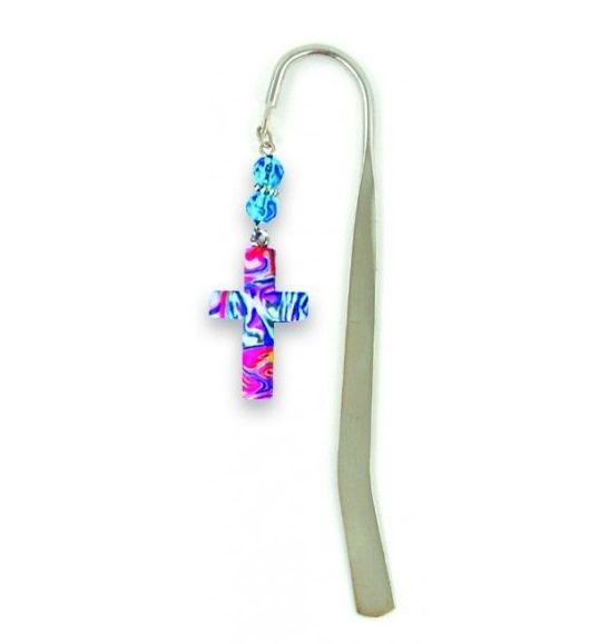 Cross Bookmark, Marble