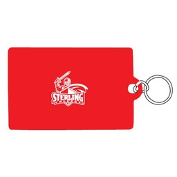 ID Holder, Vinyl Ziplock, Red