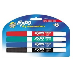 Expo Marker, Fine Point, 4ct