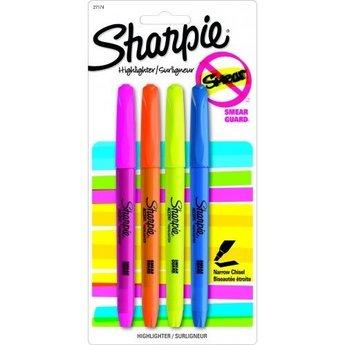 Sharpie Highlighter 4-Color Set