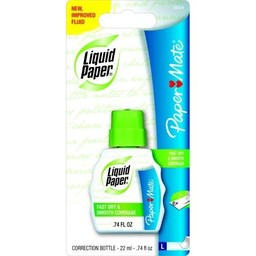 Papermate Liquid Paper Correction Fluid