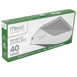 Mead Security Envelopes, No. 10, 40ct