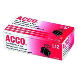 Acco Small Binder Clips, 12ct