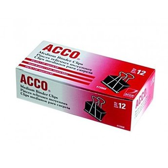 Acco Medium Binder Clips, 12ct