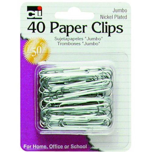 CLI Jumbo Paper Clips, 40ct