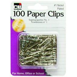 CLI Paper Clips, #1, 100ct