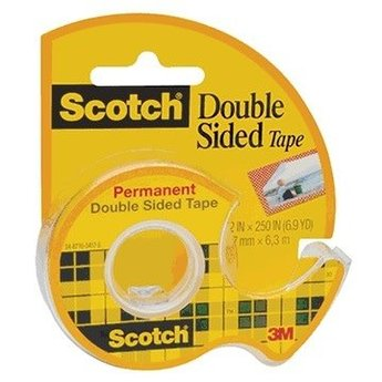 "Scotch® Double-Sided Permanent Tape; 1/2"" x 250"""