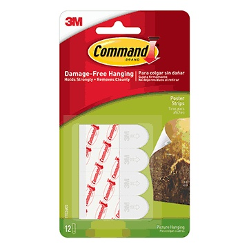 Command Poster Strips, 12ct