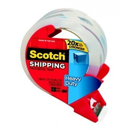 "Scotch® Super Strength Packaging Tape; 1.88"" x 38.2 Yards; Clear Tape Roll"