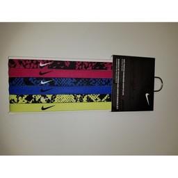 Nike Printed Headbands, 6ct,  Fuschia/Game Royal/Volt