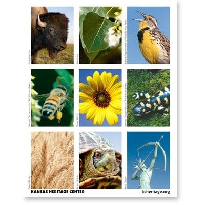 Naturally Kansas Stickers, pkg of 27