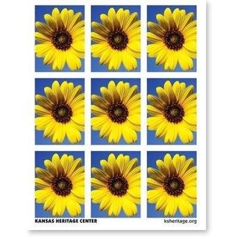 Sunflower Stickers, pkg of 27