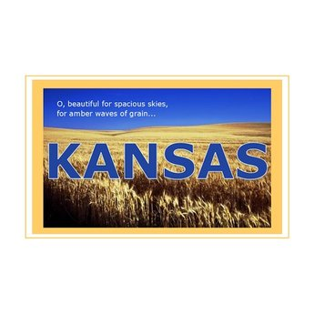 Postcard - Kansas Wheat Field