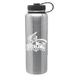 40 oz. Silver Stainless Steel Peak Bottle