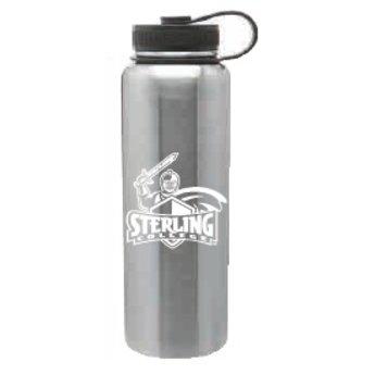 40 oz. Silver Stainless Steel Peak Bottle