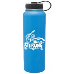 40 oz. Aqua Stainless Steel Peak Bottle