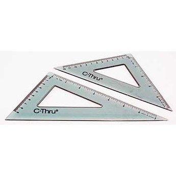 "Westcott (C-Thru) 6"" & 8"" Triangle Set (30/60 & 45/90)"
