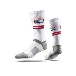 Strideline Premium Crew Socks, White