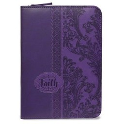Zippered Journal: Purple Faith