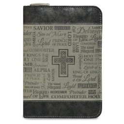 Zippered Journal: Black and Gray Names of God