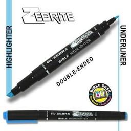 Zebrite Double End Bible Marker, Blue
