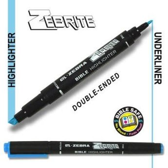 Zebrite Double End Bible Marker, Blue