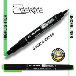 Zebrite Double End Bible Marker, Green