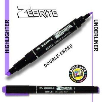 Zebrite Double End Bible Marker, Violet