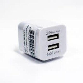 CaseMetro White Dual USB Wall Charger