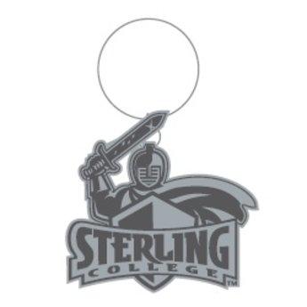 SC Warrior Antique Silver Keytag