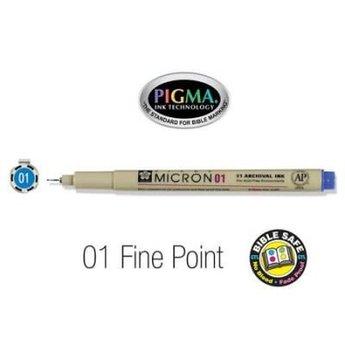 Pigma Micron 01 Fine Bible Pen Blue