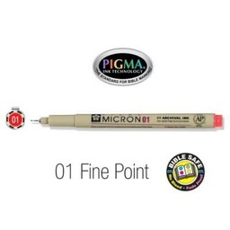 Pigma Micron 01 Fine Bible Pen Red