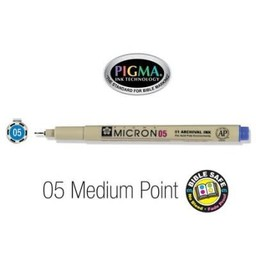 Pigma Micron 05 Medium Bible Pen Blue