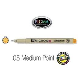 Pigma Micron 05 Medium Bible Pen Orange