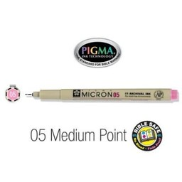 Pigma Micron 05 Medium Bible Pen Pink
