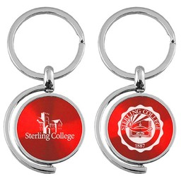 LXG CD Effect Spinner Keytag Red