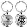 LXG CD Effect Spinner Keytag Silver