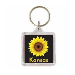 Kansas Sunflower Keychain
