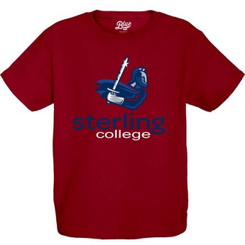 Blue 84 Youth Cotton Tee -Cardinal Red -