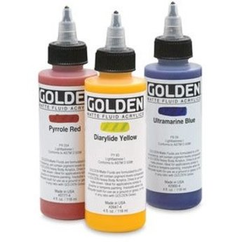 Golden Matte Fluid Acrylic, Hansa Yellow Opaque