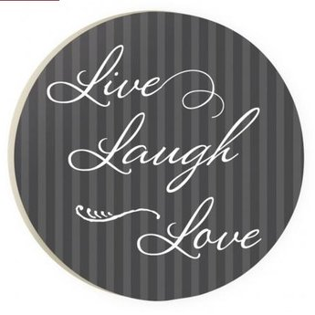 Car Coaster-Live Laugh Love