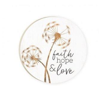 Car Coaster-Faith Hope & Love